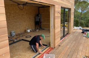 Installation box en bois